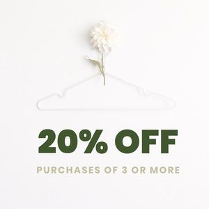 20% OFF PURCHASES OF 3/+